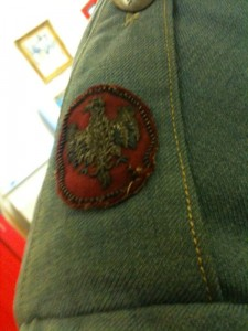 The resurgent Polish Eagle (uniform epaulette)